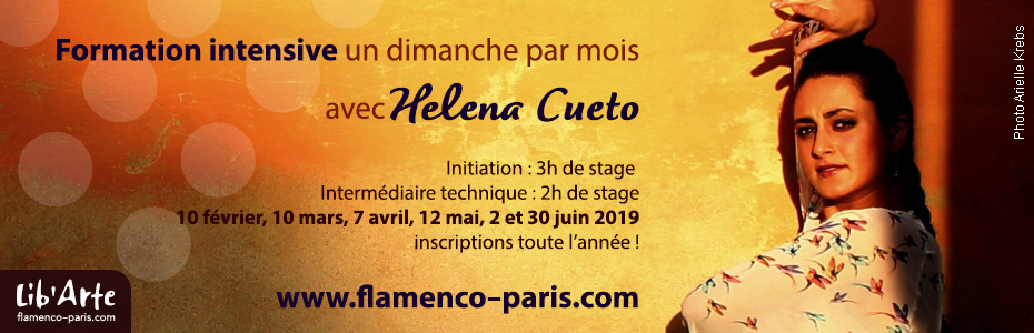 Stages de Flamenco débtutant à Paris avec Helena Cueto